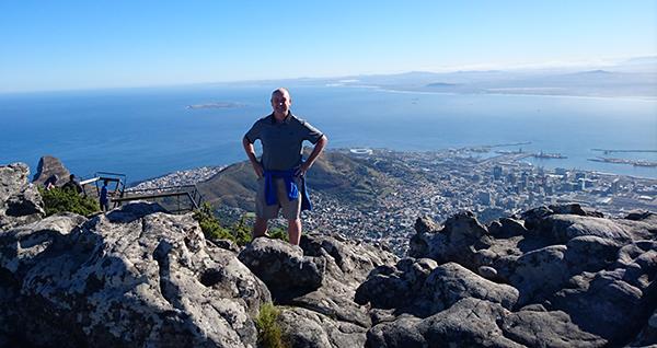 Image of Joe Lyons on Table Mountain